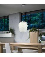 lampada sospensione vetro bianco