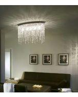 lampada da soffitto cristalli
